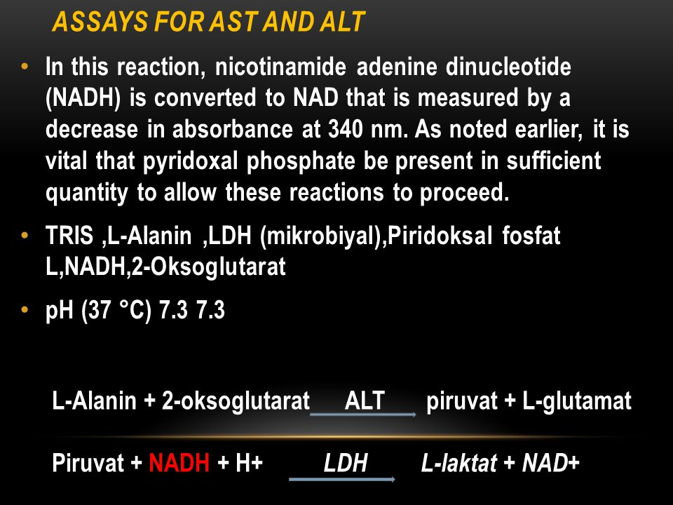 Assays for AST and ALT