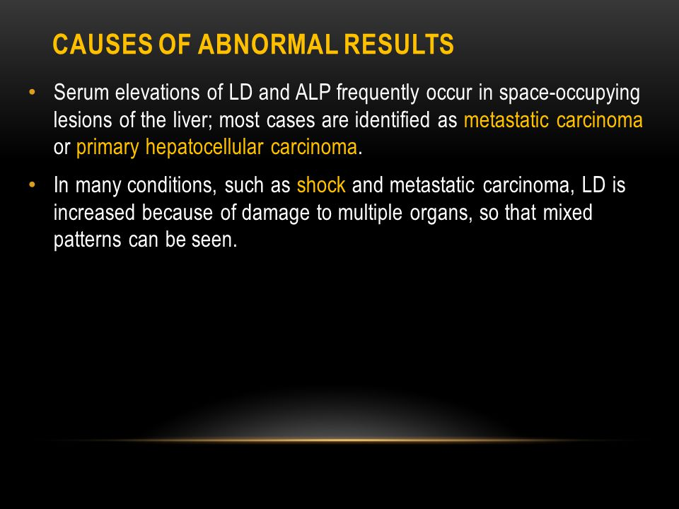Causes of Abnormal Results