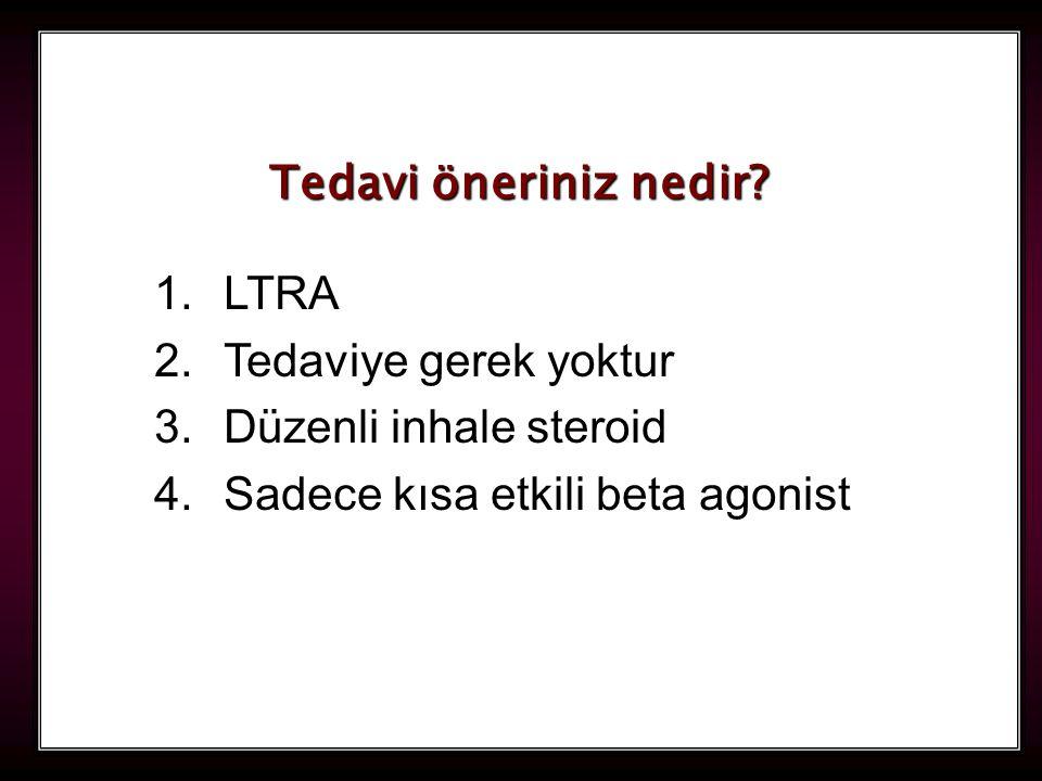 Tedavi öneriniz nedir. LTRA. Tedaviye gerek yoktur.