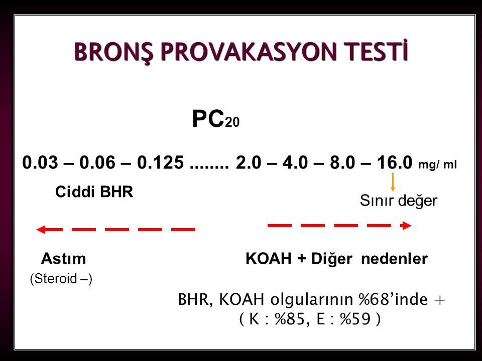 BRONŞ PROVAKASYON TESTİ
