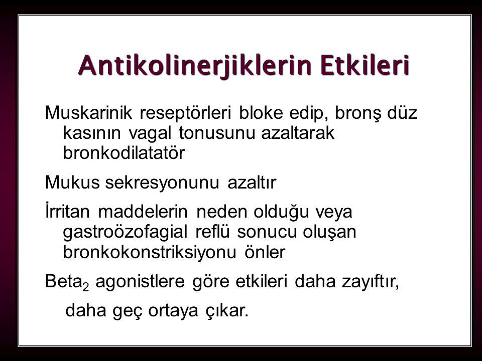 Antikolinerjiklerin Etkileri