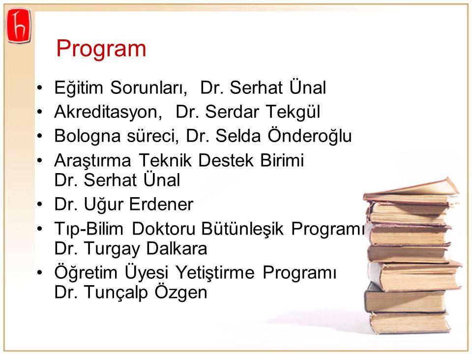 Program Eğitim Sorunları, Dr. Serhat Ünal