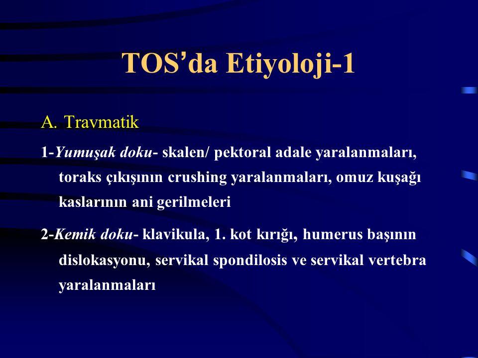 TOS'da Etiyoloji-1 A. Travmatik