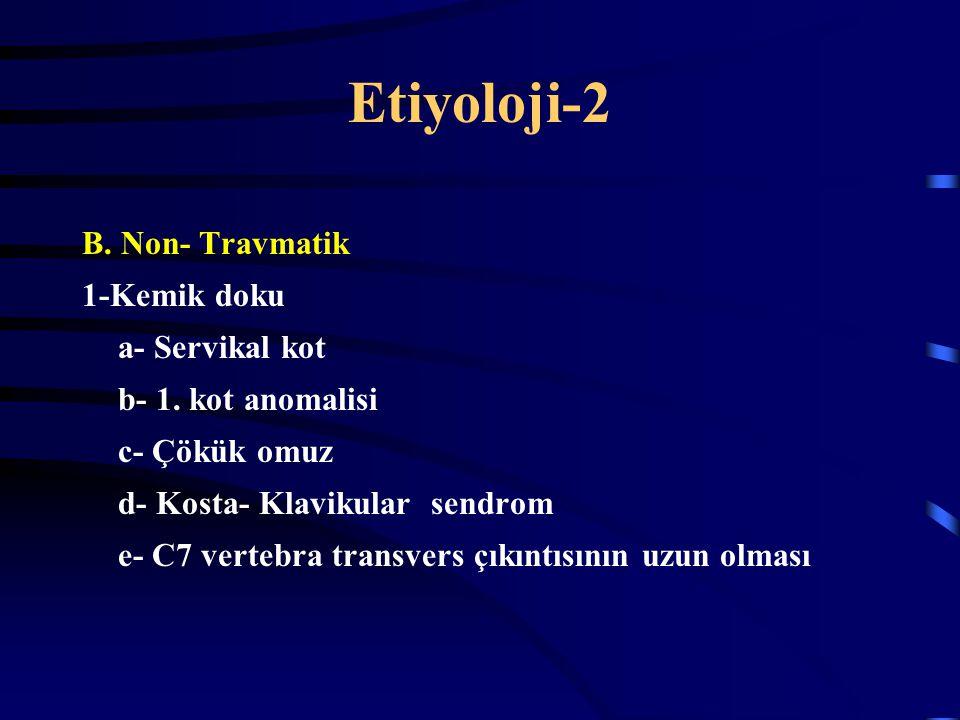 Etiyoloji-2 B. Non- Travmatik 1-Kemik doku a- Servikal kot