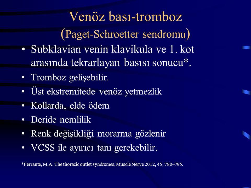 Venöz bası-tromboz (Paget-Schroetter sendromu)