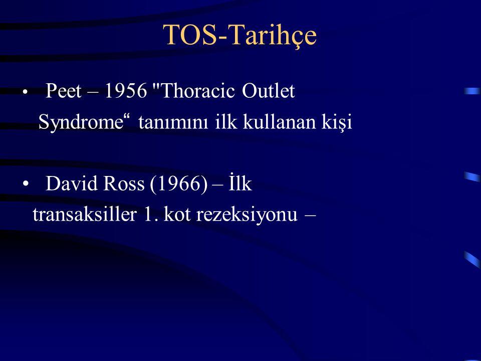TOS-Tarihçe Peet – 1956 Thoracic Outlet