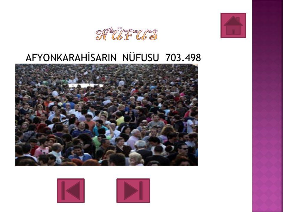 NÜFUS AFYONKARAHİSARIN NÜFUSU 703.498
