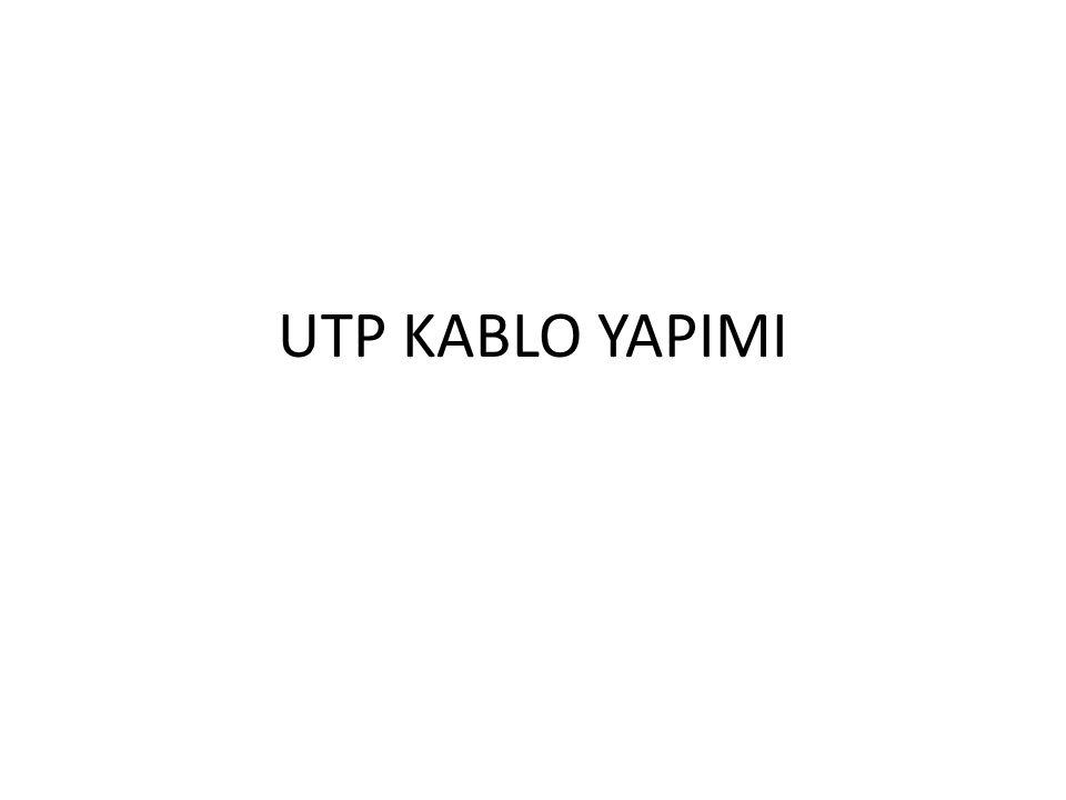 UTP KABLO YAPIMI