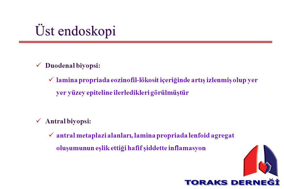 Üst endoskopi Duodenal biyopsi: