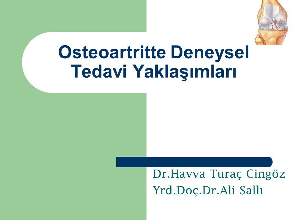 Osteoartritte Deneysel Tedavi Yaklaşımları