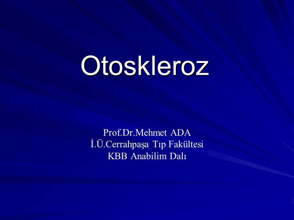 Prof.Dr.Mehmet ADA İ.Ü.Cerrahpaşa Tıp Fakültesi KBB Anabilim Dalı