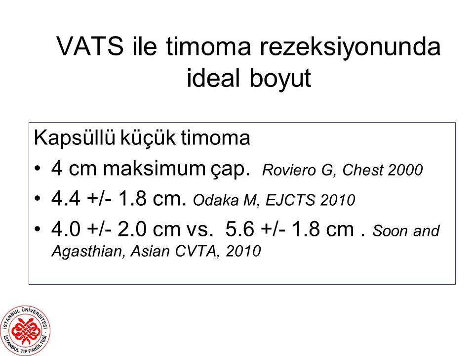 VATS ile timoma rezeksiyonunda ideal boyut