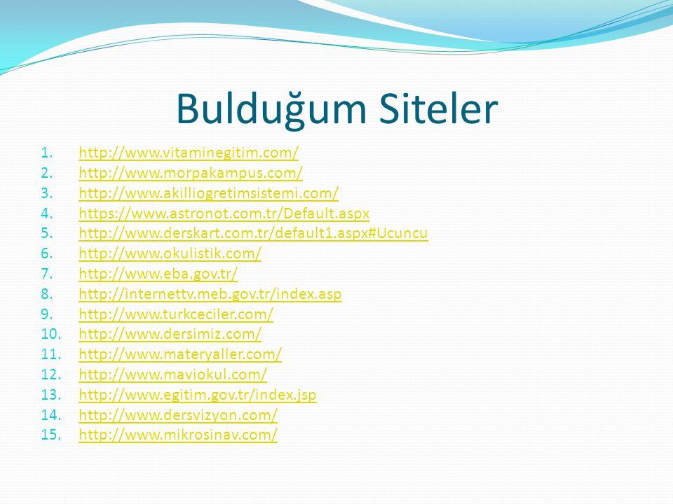 Bulduğum Siteler http://www.vitaminegitim.com/