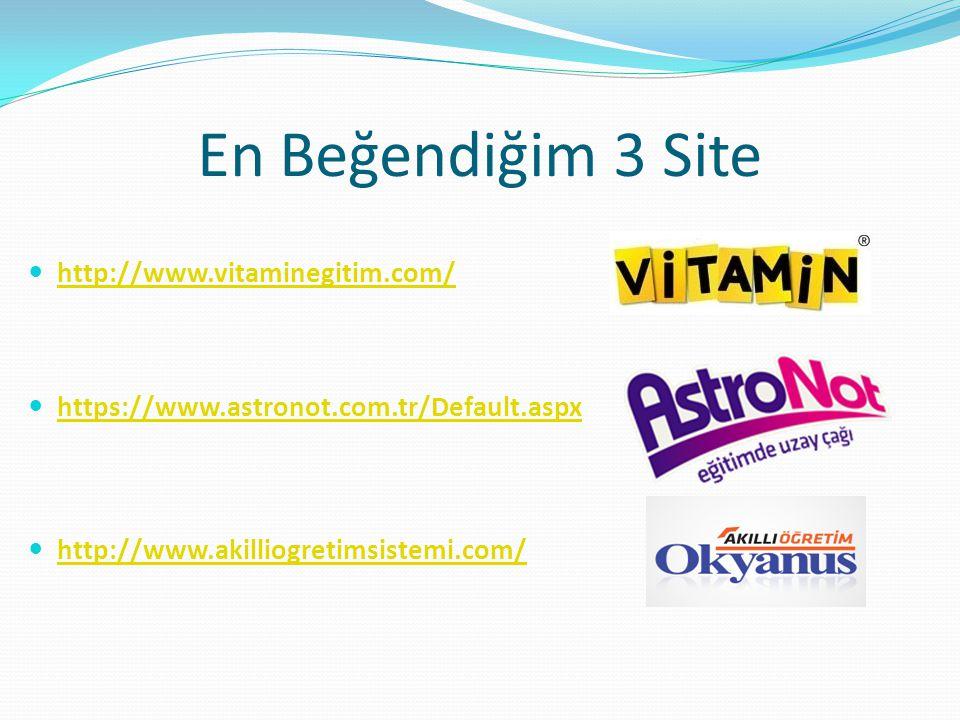 En Beğendiğim 3 Site http://www.vitaminegitim.com/