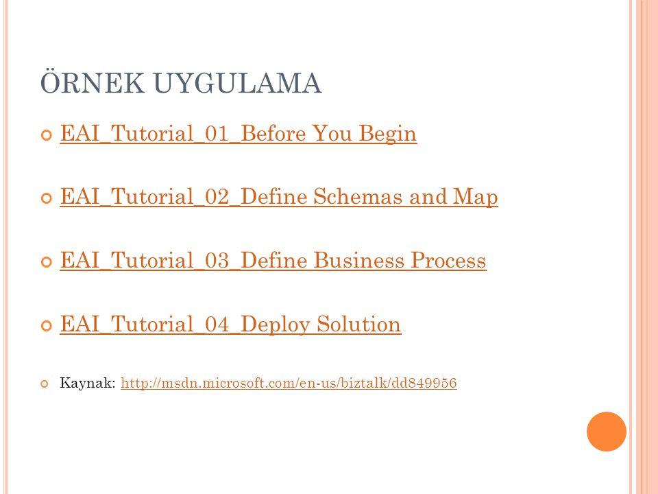ÖRNEK UYGULAMA EAI_Tutorial_01_Before You Begin