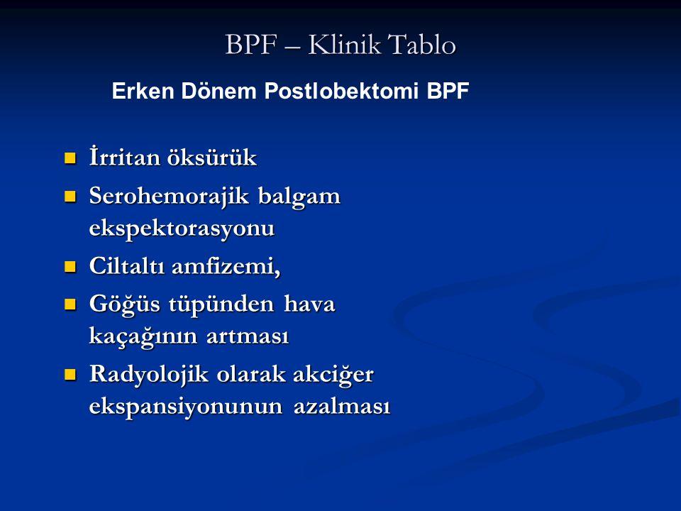 BPF – Klinik Tablo İrritan öksürük