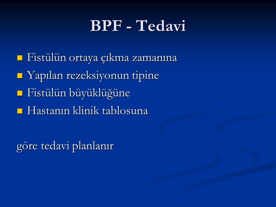 BPF - Tedavi Fistülün ortaya çıkma zamanına