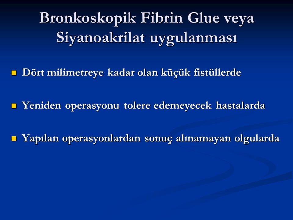 Bronkoskopik Fibrin Glue veya Siyanoakrilat uygulanması