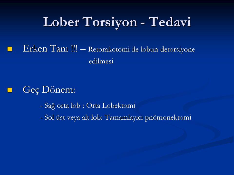 Lober Torsiyon - Tedavi