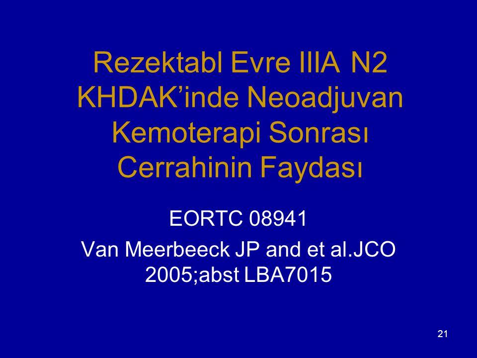EORTC 08941 Van Meerbeeck JP and et al.JCO 2005;abst LBA7015