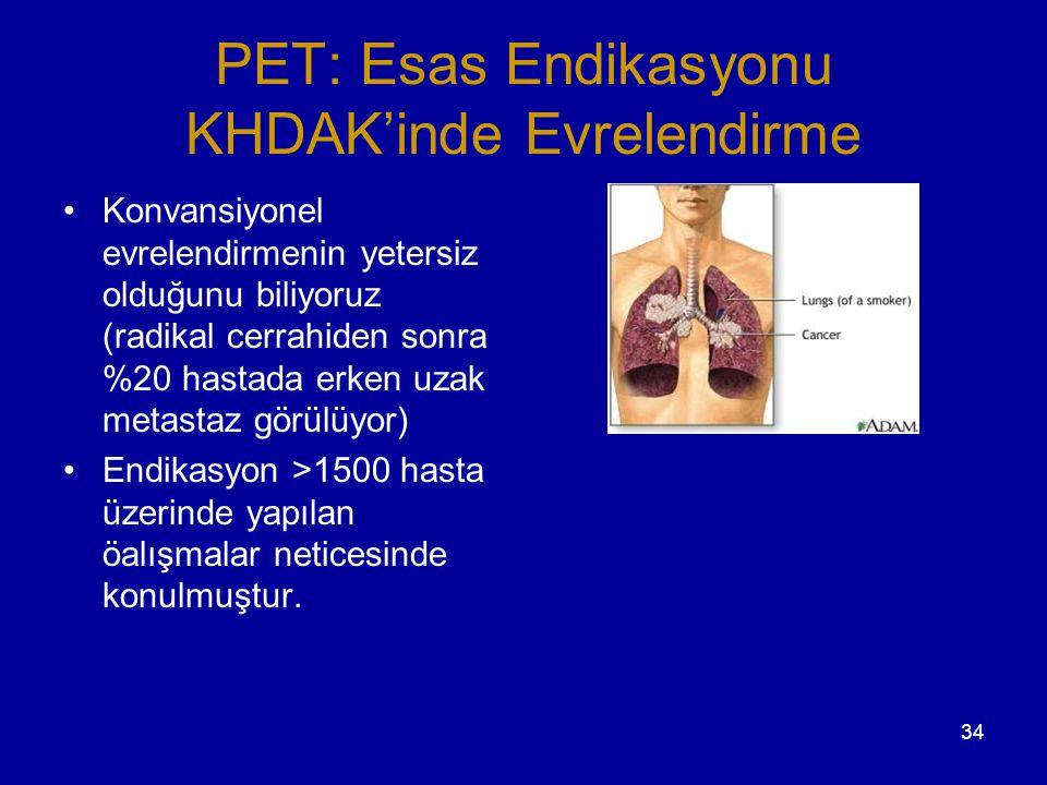 PET: Esas Endikasyonu KHDAK'inde Evrelendirme