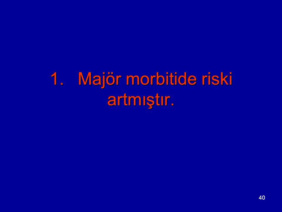 1. Majör morbitide riski artmıştır.