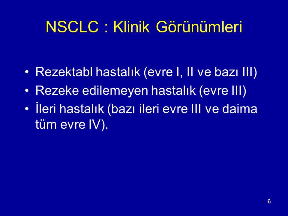 NSCLC : Klinik Görünümleri