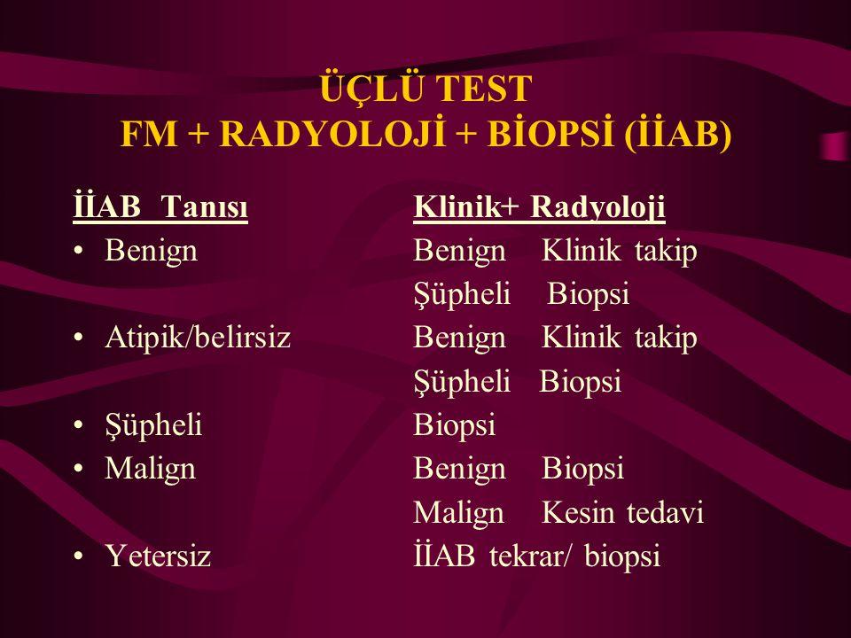 ÜÇLÜ TEST FM + RADYOLOJİ + BİOPSİ (İİAB)