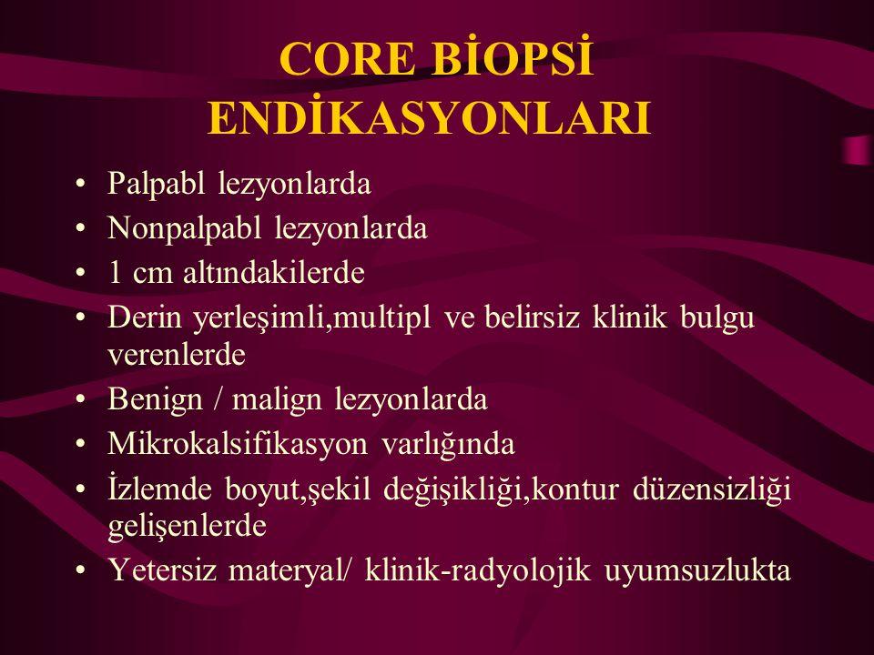 CORE BİOPSİ ENDİKASYONLARI