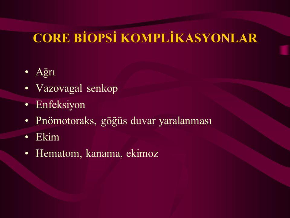 CORE BİOPSİ KOMPLİKASYONLAR
