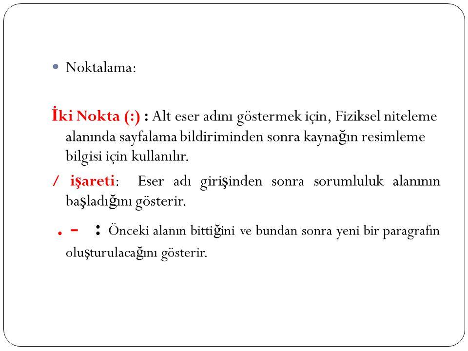Noktalama: