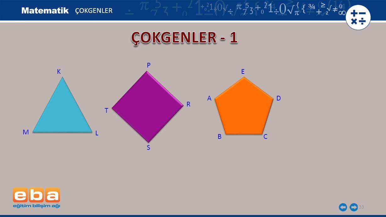 ÇOKGENLER ÇOKGENLER - 1 P K E A D R T M L B C S