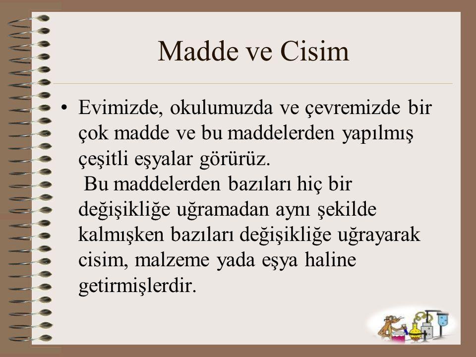 Madde ve Cisim