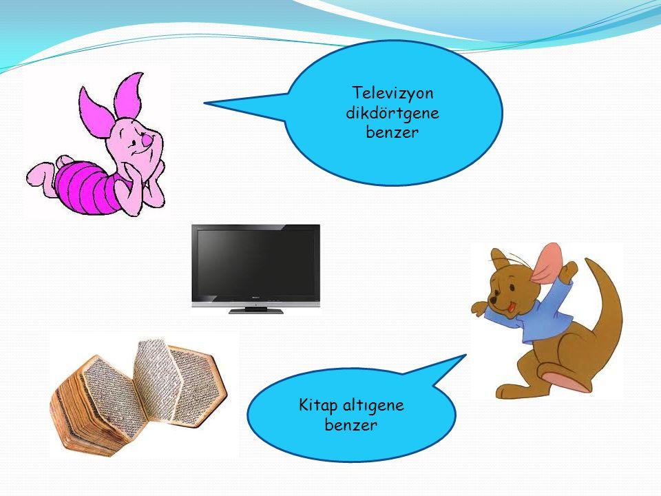 Televizyon dikdörtgene benzer