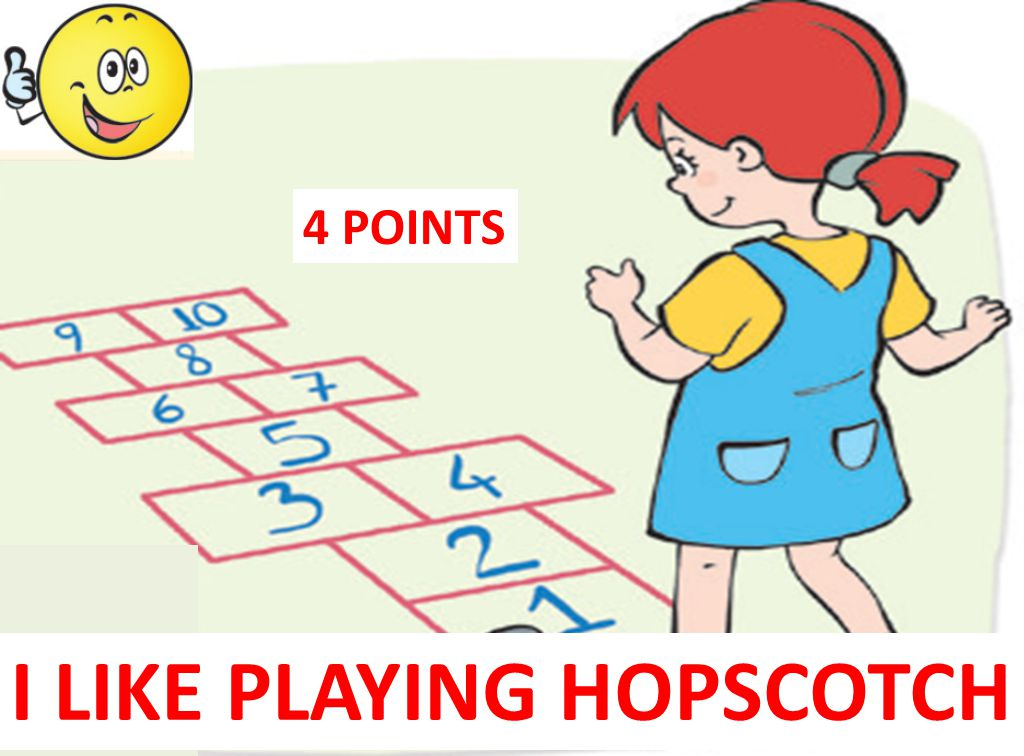 I LIKE PLAYING HOPSCOTCH
