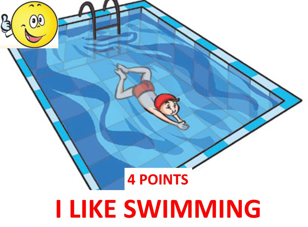 4 POINTS I LIKE SWIMMING