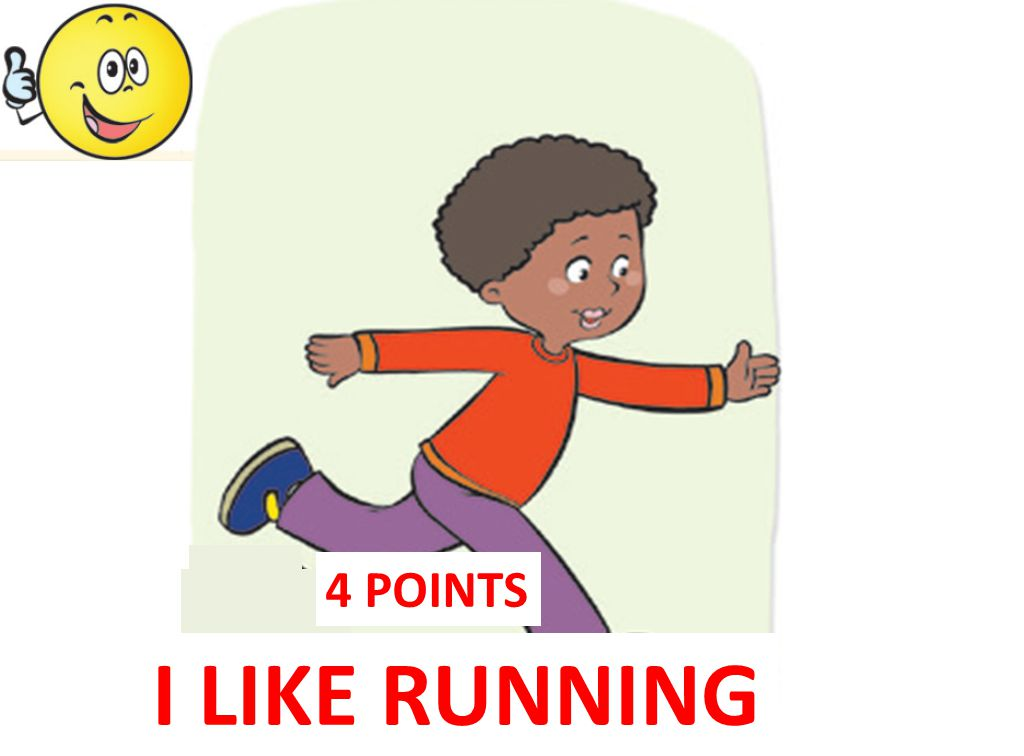 4 POINTS I LIKE RUNNING