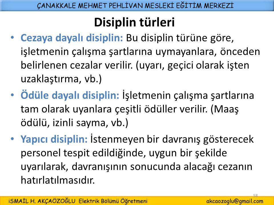 Disiplin türleri