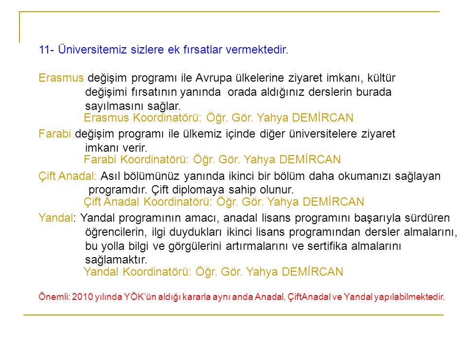 Erasmus Koordinatörü: Öğr. Gör. Yahya DEMİRCAN