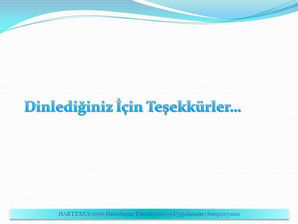 HABTEKUS 2009-Haberleşme Teknolojileri ve Uygulamaları Sempozyumu