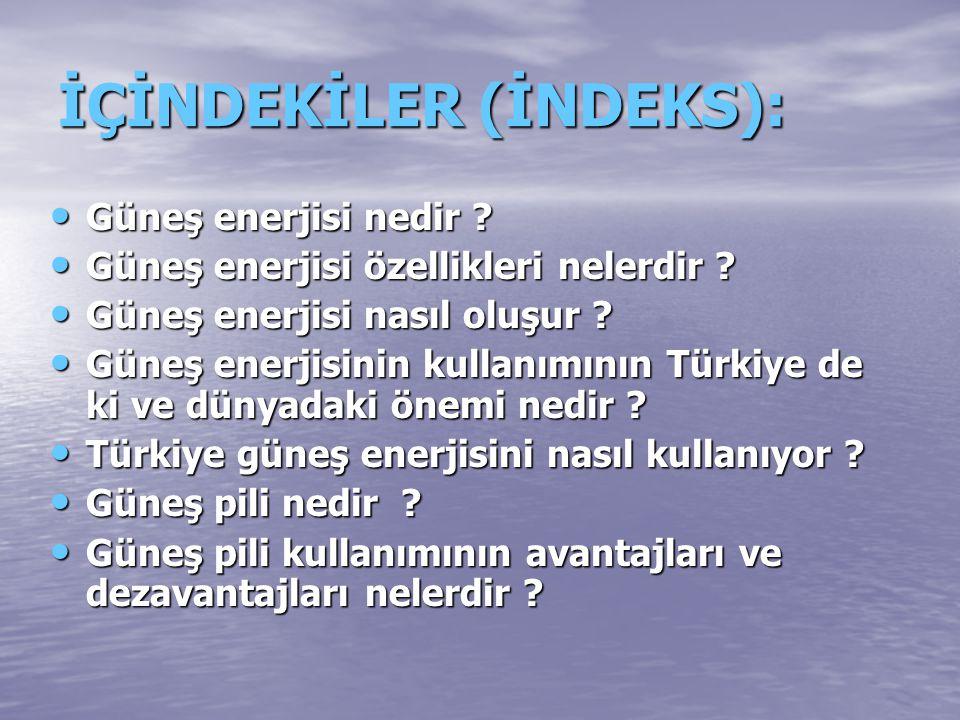 İÇİNDEKİLER (İNDEKS):