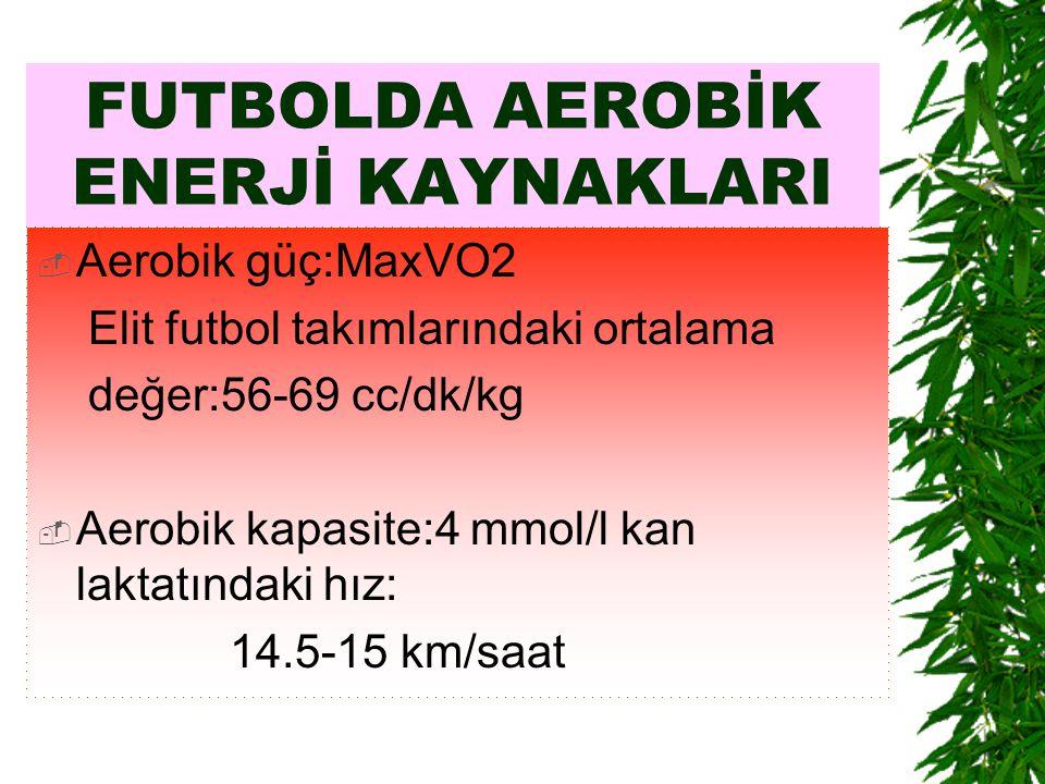 FUTBOLDA AEROBİK ENERJİ KAYNAKLARI