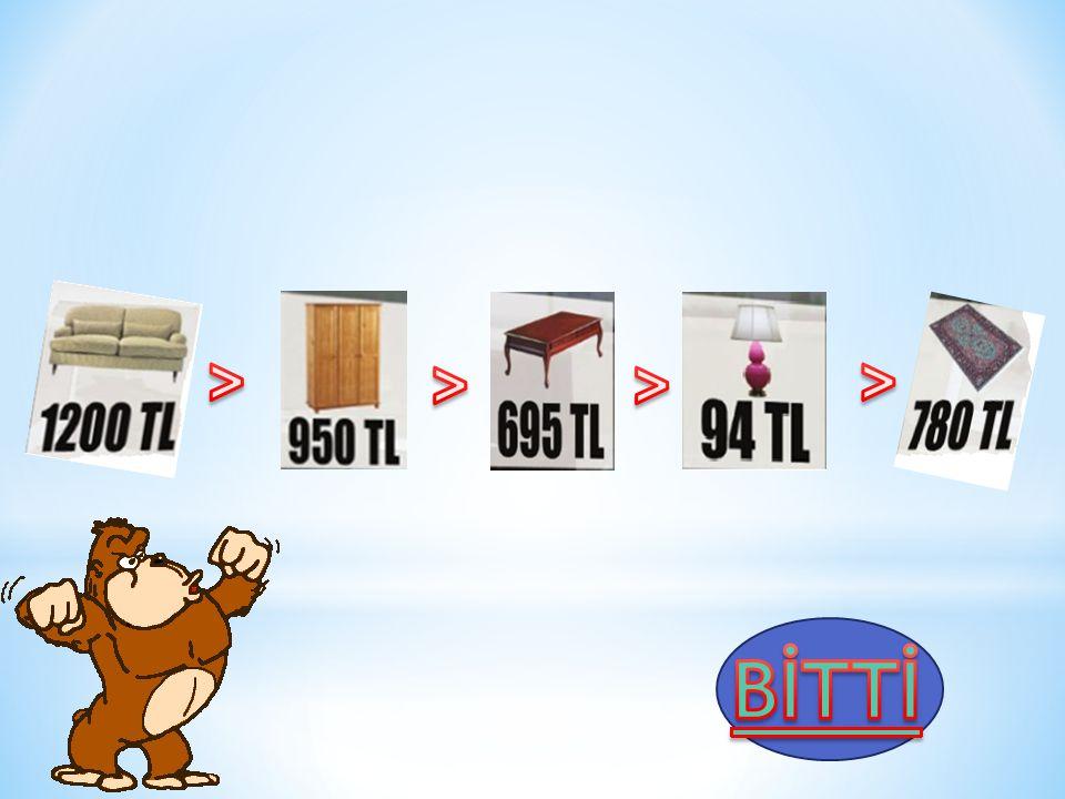 > > > > BİTTİ