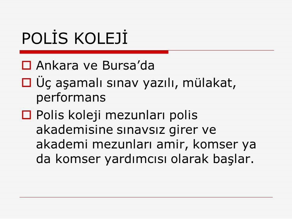 POLİS KOLEJİ Ankara ve Bursa'da