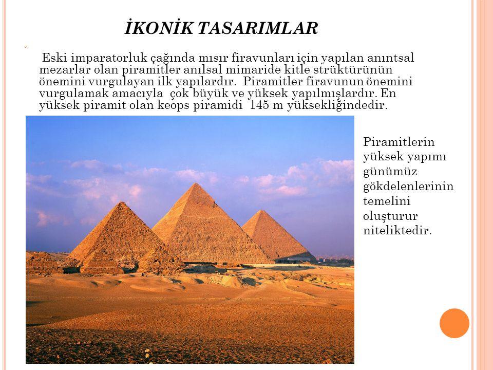 İKONİK TASARIMLAR Piramitlerin