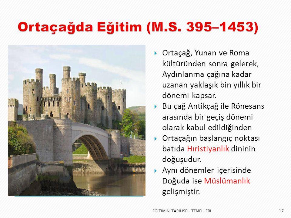 Ortaçağda Eğitim (M.S. 395–1453)