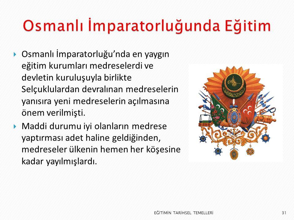 Osmanlı İmparatorluğunda Eğitim