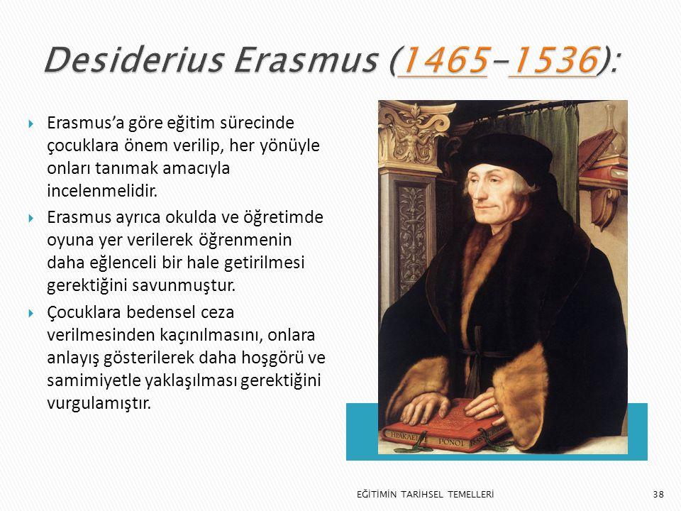 Desiderius Erasmus (1465-1536):