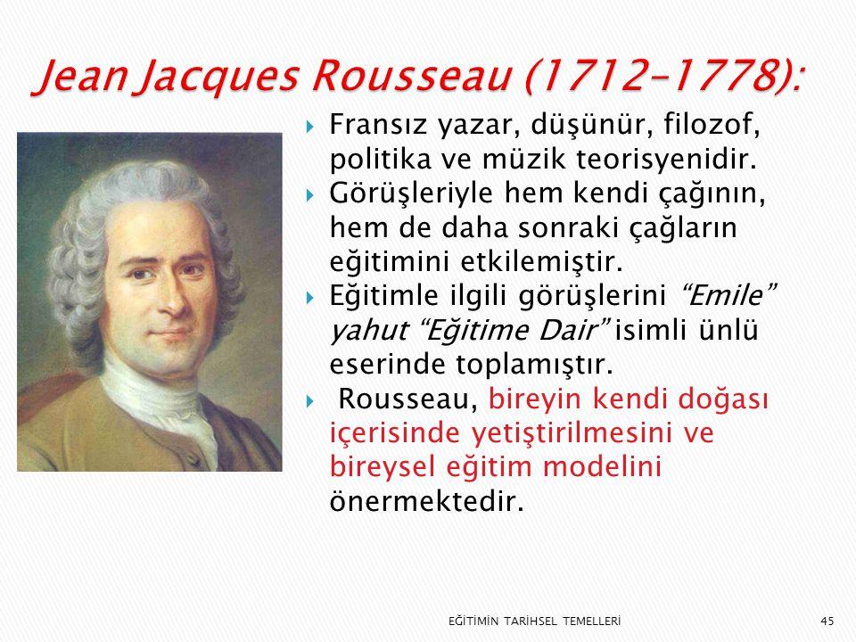 Jean Jacques Rousseau (1712–1778):