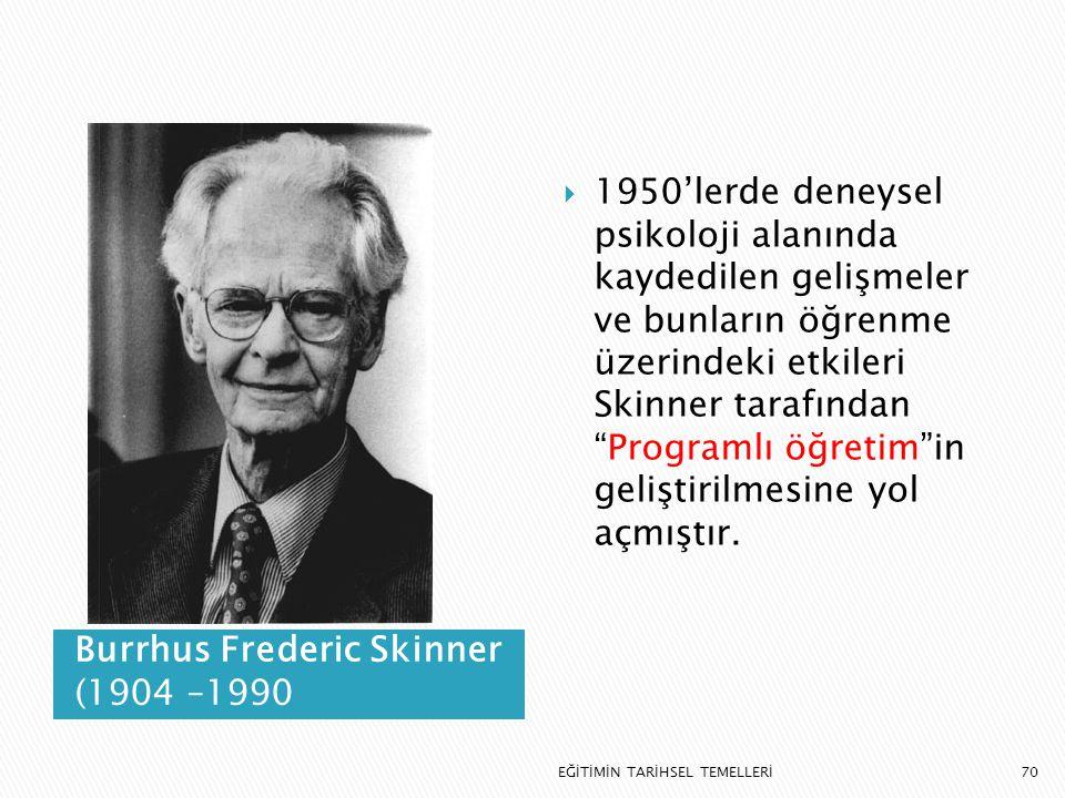 Burrhus Frederic Skinner (1904 –1990